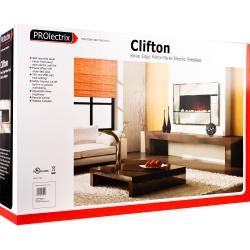 Northwest Clifton Electric Fireplace Heater with Remote