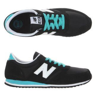 Modèle 420. Coloris  Noir, blanc et turquoise. Baskets NEW BALANCE
