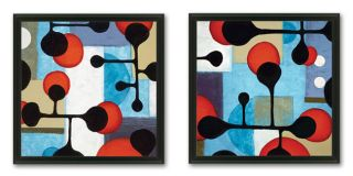 Sean Jacobs Moloko Blue 2 piece Framed Art Set Today $92.79
