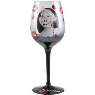 Marilyn Monroe Jewels and Kisses Marilyn 15 Ounce Wine