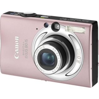 Canon Digital IXUS 80 IS Rose + Housse cuir Canon   Achat / Vente