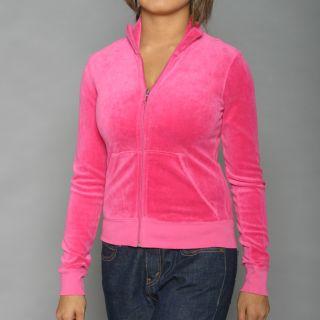 Juicy Couture Womens Fuschia Nook & Cranny Track Jacket