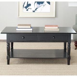 Cape Cod Black 2 drawer Coffee Table