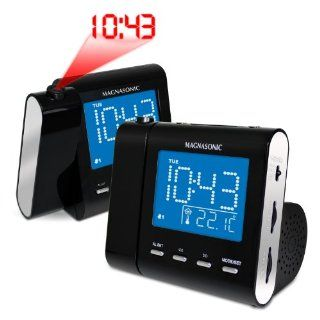 Magnasonic MAG MM176K AM/FM Projection Clock Radio with