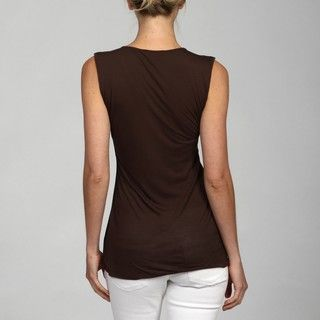 Cable & Gauge Womens Ruched Shoulder Top