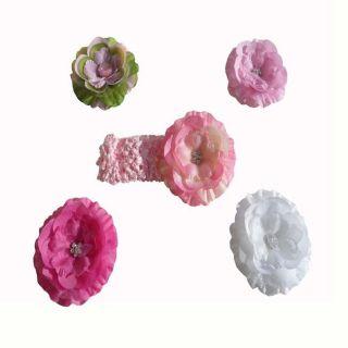 Bow Clippeez 2 Envy Crochet Headband and Flower Clip