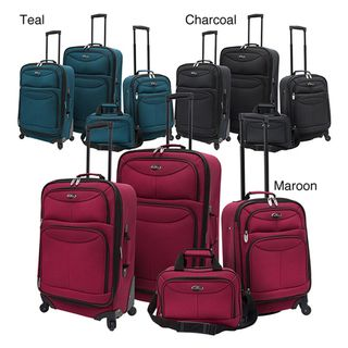Traveler US3600 4 piece Expandable Spinner Luggage Set