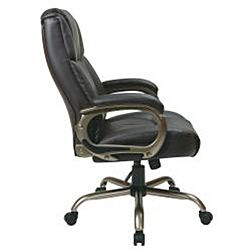 Office Star Executive Big Mans Espresso Eco Leather Chair