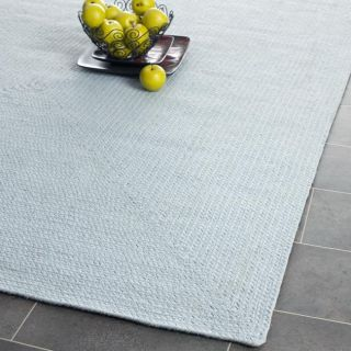 Reversible Cottage Lifestyle Light Blue Braided Rug (2 3 x 8