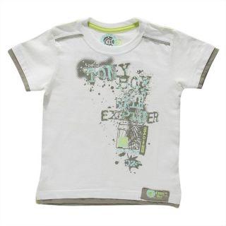 Coloris  Blanc. T shirt manches courtes 100% coton. Col rond. Coloris