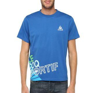 LE COQ SPORTIF T shirt Fibula Homme Bleu royal   Achat / Vente T SHIRT