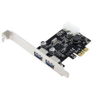SYBA PCIe 2 Port USB 3.0 Host Controller Card SD PEX20047