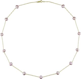 gold cultured fw pink pearl necklace 5 5 6mm msrp $ 119 88 today $ 53