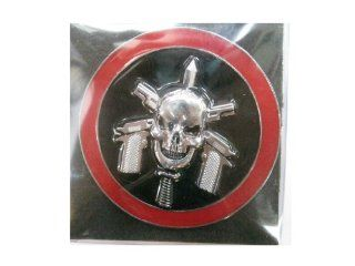 SKULL Emblem Auto Car Accessories By Chrome 3D Badge 3M Adhesive