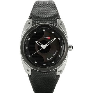 DFactory Womens White Label Black/ Mother of Pearl Dial Watch