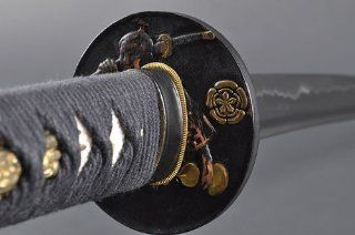 Fully Hand Forged Full Tang Black Japanese Warrior Katana