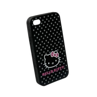Apple iPhone 4/4S Black Hello Kitty Silicone Skin Case