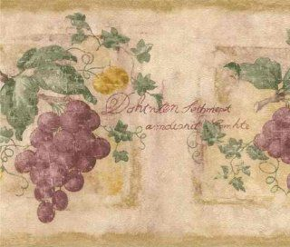 Medium Brown 418B179 Grapes Vine Wallpaper Border