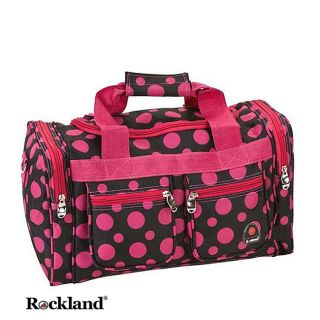 Rockland Bel Air Black/Pink Dot 19 inch Carry On Tote / Duffel Bag