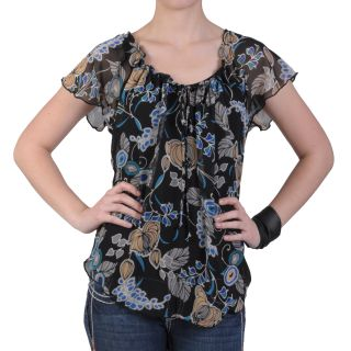 Journee Collection Womens Contemporary Plus Sheer Short sleeve