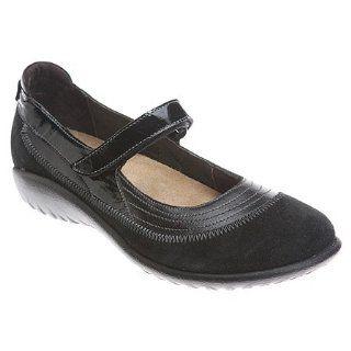 Naot Kirei   Womens Mary Jane Flats, Black Shoes