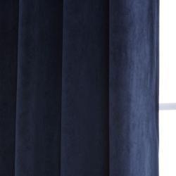 Grommet Moroccan Blue Velvet 120 Inch Curtain Panel