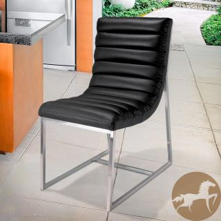 Christopher Knight Home Parisian Black Leather Dining Chair Today $