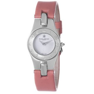 Baume & Mercier Womens Linea Pink Satin Strap Quartz Watch