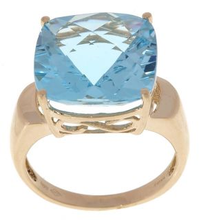 10 karat Yellow Gold Blue Topaz Ring