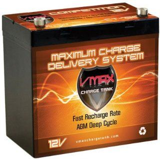 Vmaxtanks VMAXSLR60 AGM deep cycle 12V 60AH battery for