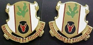 185th Regiment Distinctive Unit Insignia   Pair Clothing