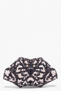 Alexander McQueen Black Lace Print Clutch for women
