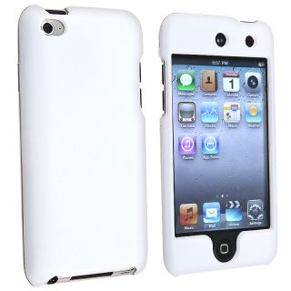 BasAcc White Rubber Coated Case for Apple iPod Touch 4th Generation