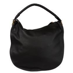 Chloe Marcie Large Black Leather Hobo