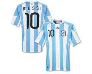 Adidas Argentina #10 Messi Home Soccer Jersey World Cup