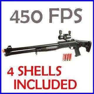 Airsoft Gun M186A Spring Shotgun Rifle Scope 450 FPS