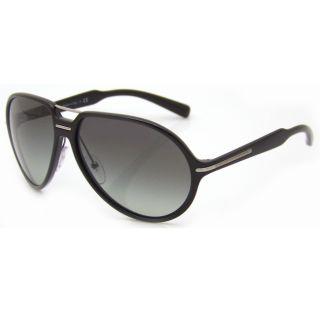 Prada Womens Shiny Black Fashion Sunglasses