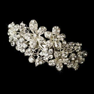 Swarovski Crystal Floral Wedding Bridal Barrette   Special