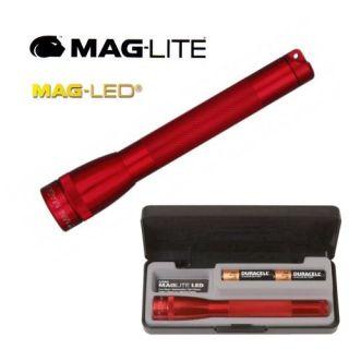 Lampe torche Mini 486.LED MAGLITE àLED de couleur rouge, multi