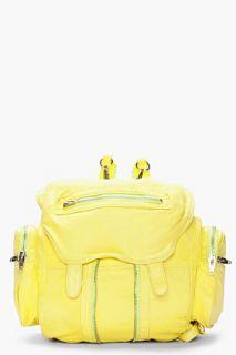 Alexander Wang Cirus Yellow Washed Lambskin Mari Backpack for women