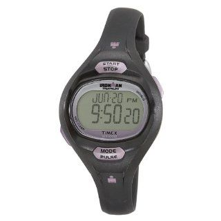 Timex Womens T5K187 Ironman Pulse Calculator Black/Purple Resin Strap