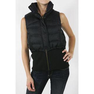 Diesel Womens Dark Navy Layered Sleeveless Vest