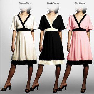 Evanese Womens Short Kimono sleeve Bubble skirt Dress