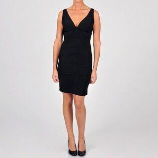 Onyx Nite Womens Ruched Jersey Knit Dress