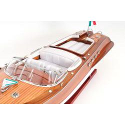 Old Modern Handicrafts Riva Aquarama Painted Model Boat