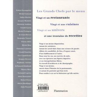 LES GRANDS CHEFS PAR LE MENU   Achat / Vente livre Jean Claude Renard