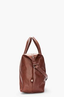 Maison Martin Margiela Brown Leather Travel Duffle Bag for men