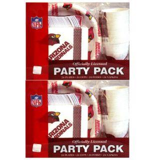 Arizona Cardinals 24 piece Party Pack (Set of 2)