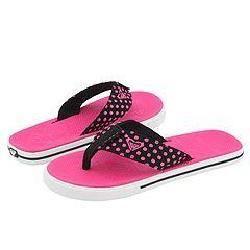 Roxy Guppy Black/Pink Pin Dots
