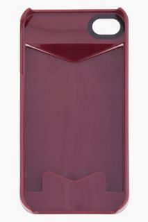 Marc By Marc Jacobs Burgundy Cardholder Iphone 4g Case for women